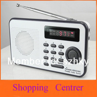 2013 New Fashion FM Radio Speaker USB SD Card Speaker,The Aged Best Mini Digital FM Radio MP3 Wholesale Free Shipping