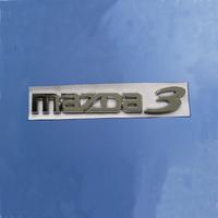 Mazda horse emblem mazda emblem 3 labeling letter MAZDA 3 letter MAZDA 3 discontinuing