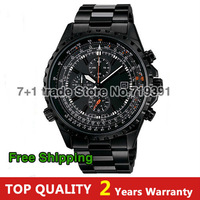 Free shipping NEW Men's sports watch straps racing watch waterproof men's watch calendar three eyes
