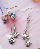FREE SHIPPING Yunnan national accessories tibetan silver vintage earring