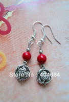 FREE SHIPPING fashion earring gift miao silver drop earring tibetan jewelry earrings