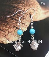 FREE SHIPPING Yunnan national accessories jewelry tibetan silver earrings