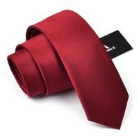 2013 Mens Casual Silk Ties For Men Brand Business Neckties Men's 6cm Solid Wine Red Slim Neck Ties Narrow Tie Skinny Gift Box