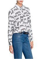 K88 - new European and American leopard print shirt / fashion collar blouses