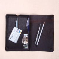 Horse Leather Snap Closure Tablet Case for ipad LAPTOP leather folio 3 credit card slots case for ipad mini wholesale/retail