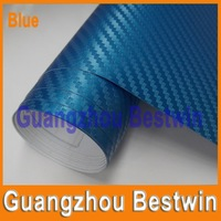 Free shipping Hot sell high quality 1.52*1m high polymeric PVC carbon fiber sticker with Air bubble free BW-1006