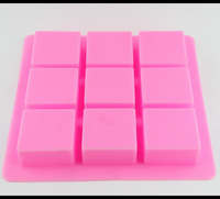 5 Pieces 9 Holes Soap Mould 25cm Big Square Silicone Moulds Pudding Jelly Molds Cheap Sale