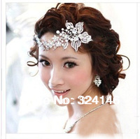 2013 New Style 100% real luxurious clear alloy crystal  flower wedding Hairpins fashion hair jewelry  wholesale