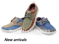 autumn-summer cheap canvas blue Korean denim style new 2014  Mens Sneakers fashion shoes men casual shoes sneaker cool