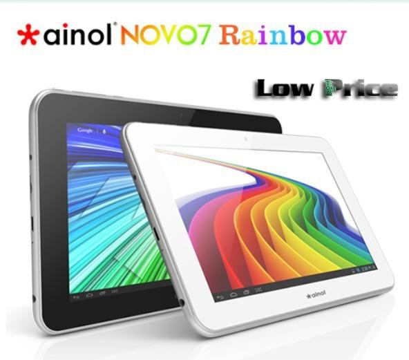 Venta caliente ainol novo 7 arco iris tablet pc de 7 pulgadas pantalla capacitiva a13 8gb rom de la cámara wifi android 4.0 mini pc de envío gratis