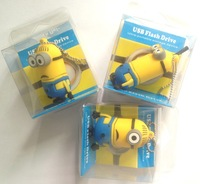 low price Minions 2 pen drive cartoon real capacity usb flash drive Minions flash memory stick pendrive with retail package