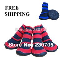 NEW Pet Shoes Dog Rain Boots Dog Shoes, Anti-skidding Shoes, Waterproof Booties, 4pcs/lot size XXS XS S M L XL XXL Free Shipping