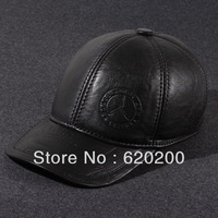 winter Hat male autumn and winter genuine leather first layer of cowhide baseball ear the elderly genuine leather cap