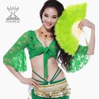 100%Turkey feather fan belly dance Practice dance props Fan TP 1029-1