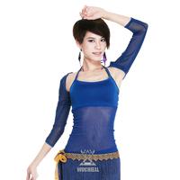2014 New Fashion Upscale Belly Dance Top Wild Slim Gauze Sleeveless Jacket TZ1562