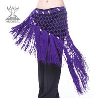New belly Dance Girdle Hip Belt Towel Rhinestone Triangle Fringed Belt Lengthening,7 Colors TP1003