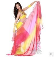 Gradient Color Faux Silk Scarf Belly Dance,Dance Accessories 4 Colors TP 010