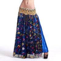2014 New Fashion Upscale Belly Dance Skirt Double-slit Sexy Slit Symphony Skirt TZ004