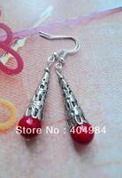 FREE SHIPPING Yunnan national accessories miao silver drop earring handmade