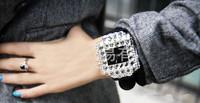 free shipping ladies quartz dress wristwatch women clock 2014 top popular style fashion women's crystal rhinestone watches