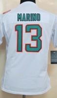 Wholesale Cheap Womens American Football Miami 13 Dan Marino Jerseys Free Shipping From China, Size S-XXL, Mix Order