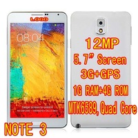 "Free shipping 1:1 NOTE 3 Android 4.3 MTK6589 Quad Core 5.7"" HD screen 3G 12.0MP eye control Air gesture Phone Portuguese Turkish"