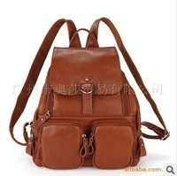 Han edition fashion women's leather backpack leather handbag leisure backpack bag bag