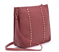 2014 Women bag Fashion Rivet Shoulder Bag women rivet bag high quality PU Leather Free Shipping