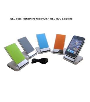 10PCS/Lot,2014 New Hot Selling Fashion DLY-357B Folding Sticky Folding USB Hub Card Readers Mobile Phone Holder Free Shipping