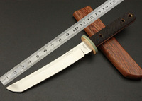 Freeshipping CASTONF Classic Japanese Samurai Swords Hunting Outdoor Straight Survival TOOLS 58HRC Factory Price 280g