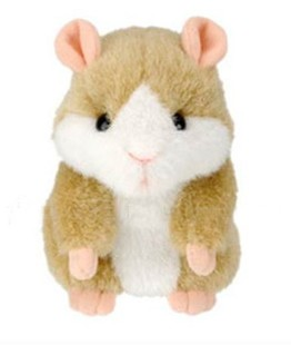 Russian Plush Talking Hamster Toy Interactive Clear Recording Animal Speaking Tom Early Kids Learning Toy New Year Gift(China (Mainland))