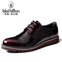 Blaihilton genuine leather men's business casual shoes, leather shoes British fashion casual shoes tide shoes Boots