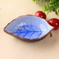 zakka tree leaf sushi moistened dish ceramic 4pcs free shipping chaozhou crackle glaze cute dish