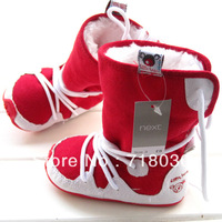 2014 hot new baby soft bottom first walkers baby shoes Cotton-padded snow boots inner size 11cm12cm 13cm Free shipping Q13-2