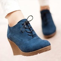 Free shipping 2013 New wedges pumps Shoes women autumn women's platform wedges high-heeled shoes fashion women shoes wedge shoes
