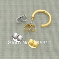 5000pcs/15.5USD Gold Plated Butterfly Earring Findings backs Ear stopper Backs-Earring Clutches