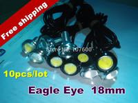 Wholesale car DIY 10pcs 1.8cm 7000K 500-Lumen Waterproof Eagle Eye LED Daytime Running/Brake Lamps / Lights Free shipping