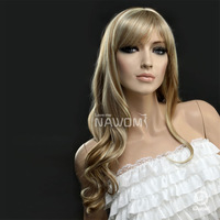 Free Shipping cheap 60 cm long wavy fashion party wigs for women