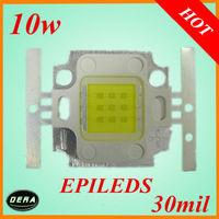 free shiping Super Bright   10W Integrated LED Light Beads 10W Lamp Energy Saving 10W EPILEDS  LED Chip  White wholesale