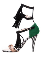 new arrive 2014 new style Exaggeration sex high heel Sandals for woman Multicolor party shoes size 35-42