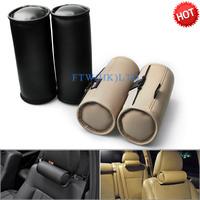 2Pcs / Set Car Safe Care Pillow Comfortable Leather Headrest Head Cushion OT15