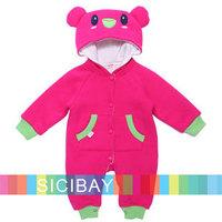 Cartoon Pattern Rompers Baby Winter Clothing Set kids pajama sets Newborns child Cute leggings Wear K3756