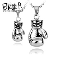 Huge Heavy  Boxing Match  Boxglove Boxing Glove Pendant Chain Mens Jewelry 316L Stainless Steel BP3022