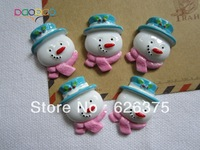 Wholesale Cute Snow Man, Resin Flatback Flat Back Cabochons for Scrapbooking, Hair Bow Center, DIY Free Shipping