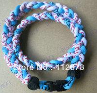 wholesales titanium 3 ropes necklaces titanium magnetic balance sport custom necklace 16/18/20/22 inch 600pcs/lot free shipping