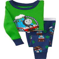 Baby boy's pajamas 2013 new fashion car children's pj 100% cotton kids sleeping wear,green boy casual,kids pajama sets,baby wear