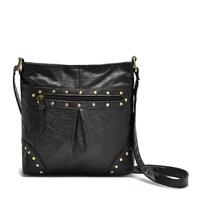 Vintage Imitation Leather Shoulder Bag,Rivet Messenger Bag.Motorcycle Bag