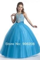 2014 Hot Sell Flower girl dresses for weddings Ball Gown Kids Princess Dress Size For Girs Free Shipping Flower Girl Dresses
