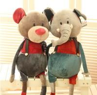 creative pefree shipping rsonality 80cm 0.76Kg pp Cotton Plush and Stuffed elephant rabbit mouse bear Wedding birthday gift