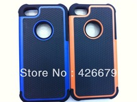 300ps/lot FASHION STYLE HYBRID ARMOR CASE NEW HYBRID ARMOR CASE COVER Soft Silicon Gel Matte Hybrid FOR  IPHONE 5s 5 (mix color)